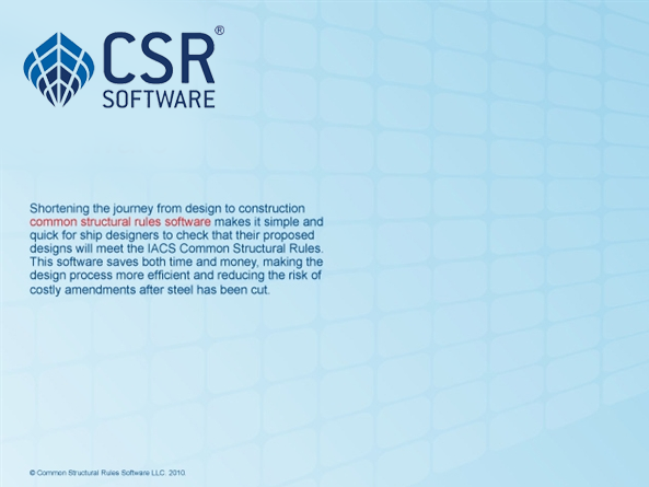 Common Structural Rules Software LLC  CSR Spreadsheets v5 1
